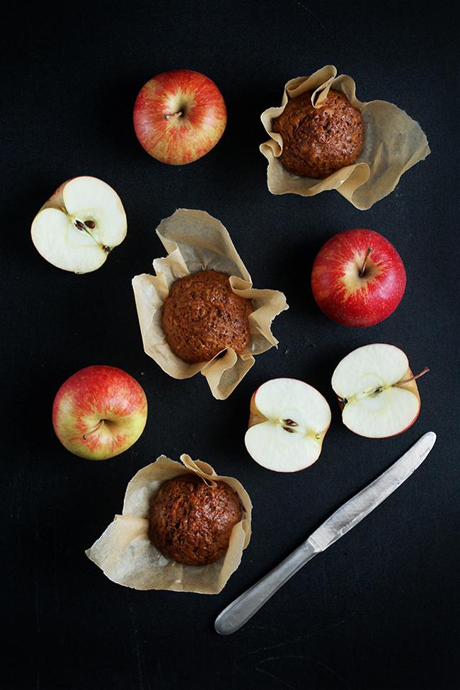 Muffinki marchewkowo-jabłkowe.