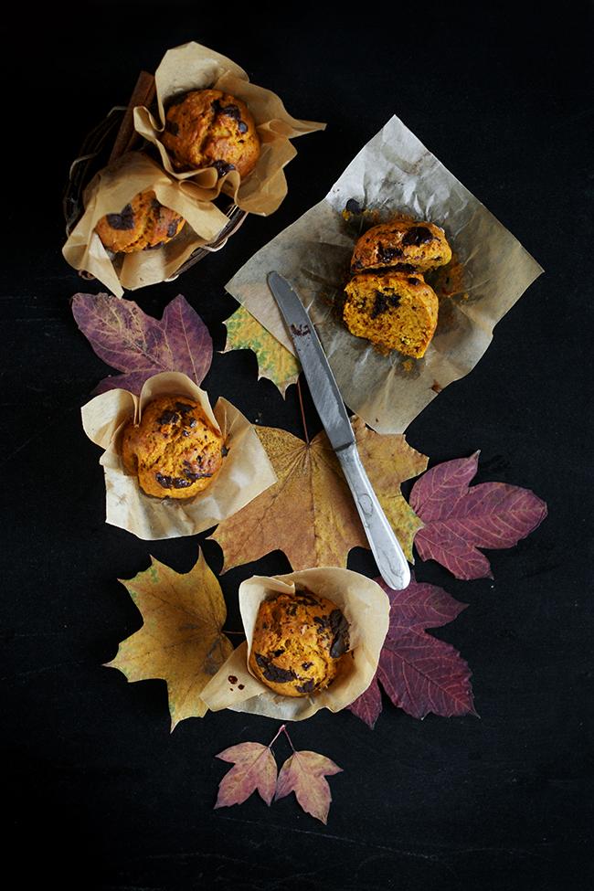 Muffinki dyniowe z czekoladą