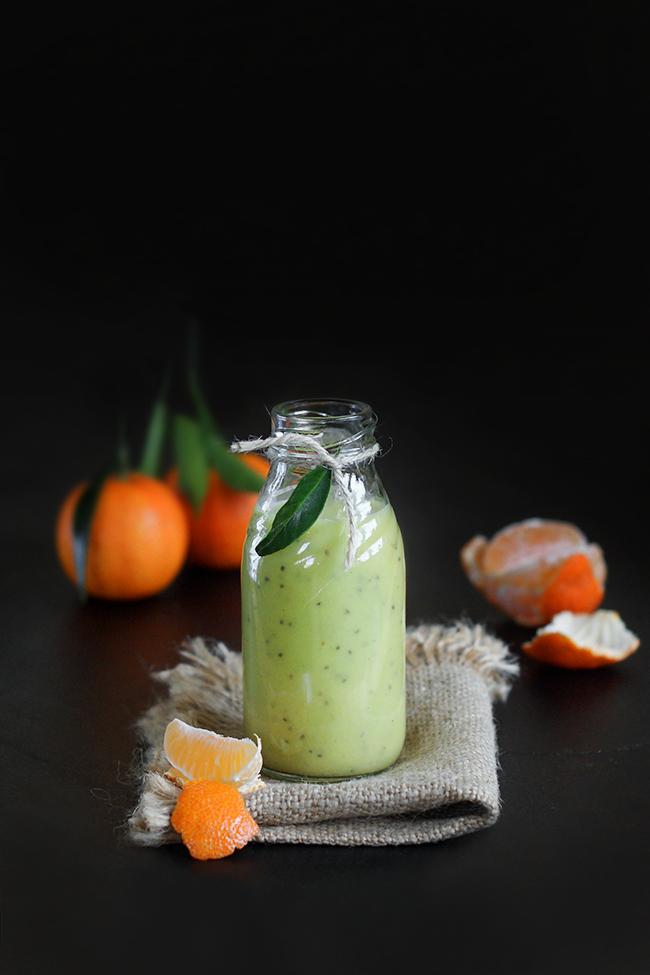Aksamitne owocowe smoothie z imbirem