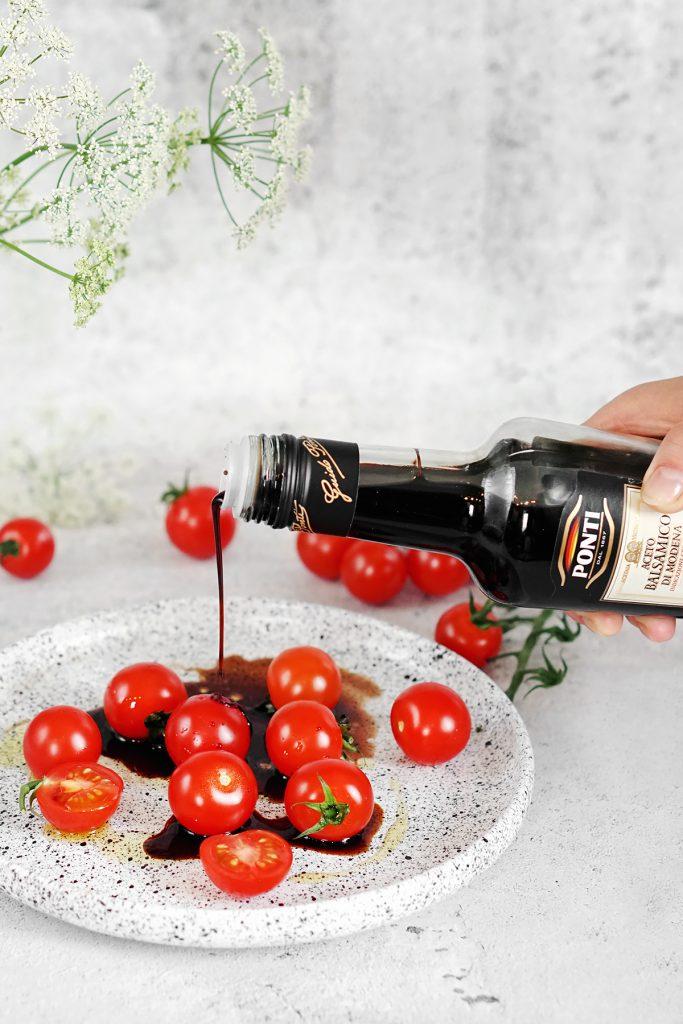 Pomidorki z octem balsamicznym