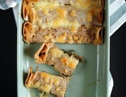 Pszenno-żytnie naleśniki ze szpinakiem pod mozzarellą