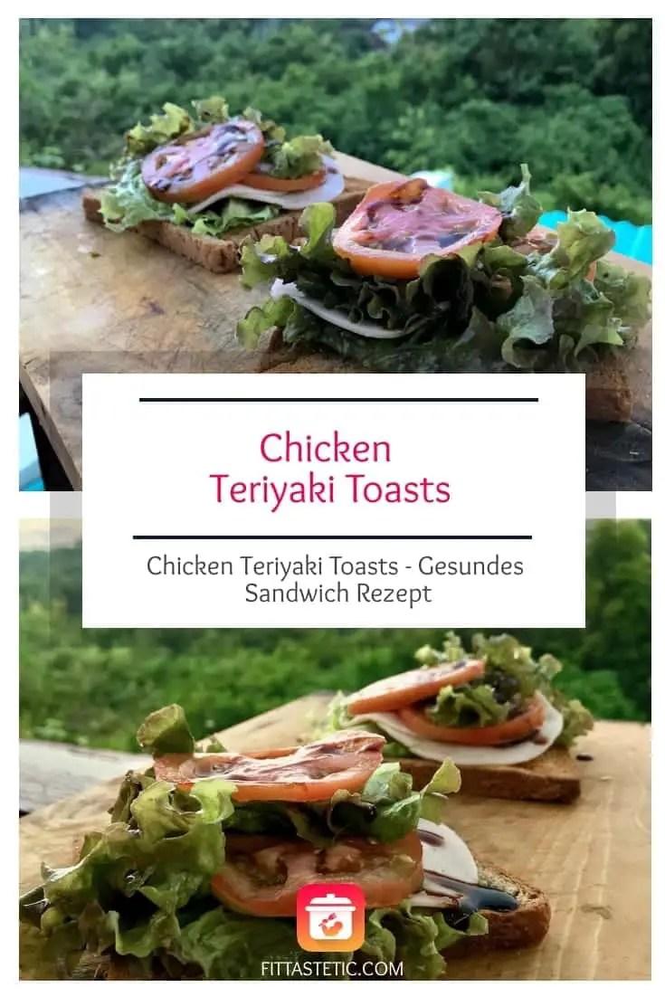 Meine Chicken Teriyaki Toasts, ein leckeres und gesundes Sandwich Rezept! Dieses Asia Sandwiches sind so simpel und doch so gesund und lecker! #asiatisch #toast #gesund #sandwich #gesundesandwiches #fitness #toastbrot #rezepte #gesunderezepte #toastbrotrezepte