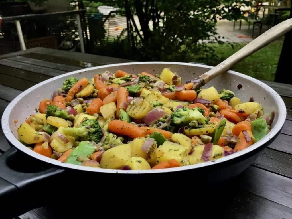 Gesunde Gemüse Pfanne