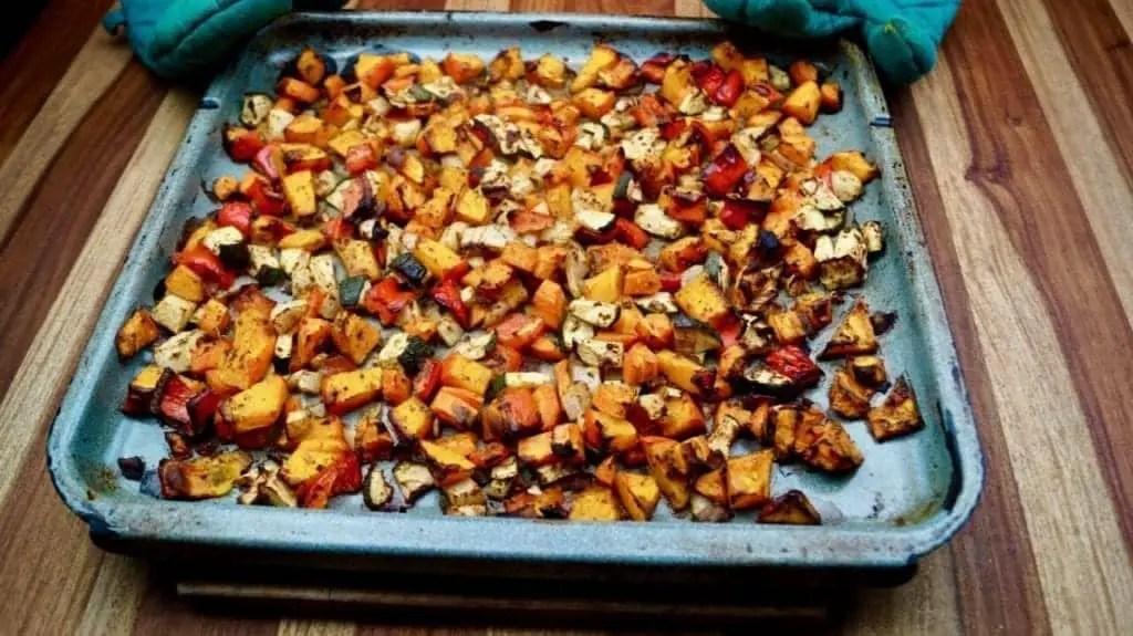 Ofen Kürbis-Gemüse
