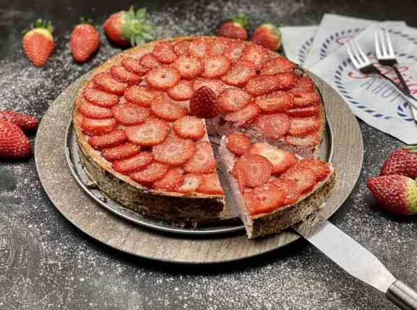 Erdbeer Fitness Käsekuchen