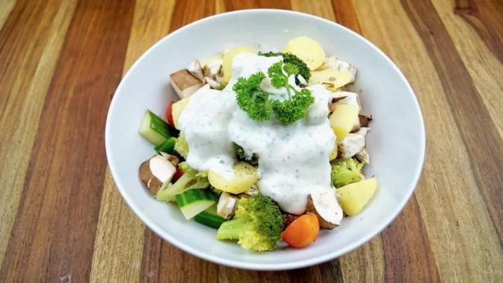 Gesunder Fitness Kartoffel salat