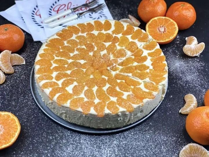 Mandarinen Käsekuchen ohne Boden