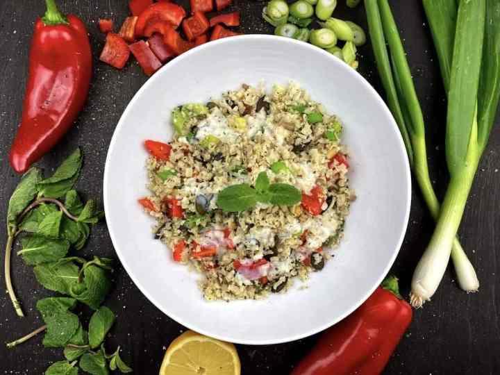 Low-Carb Couscous Salat aus Blumenkohl