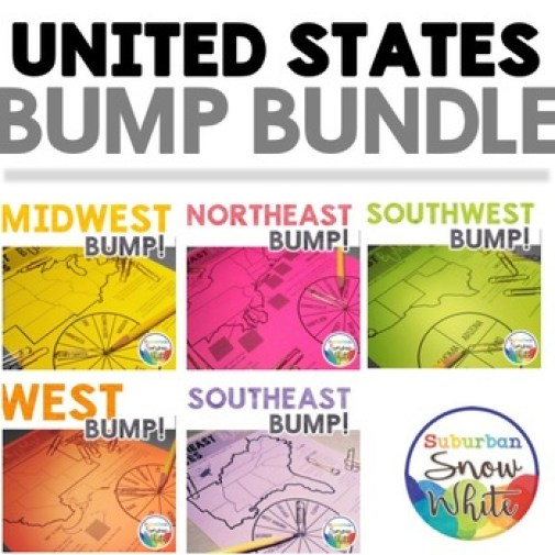 Learn the states and capitals with the United States Bump Game Bundle!