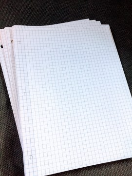 Loose graph paper can be used the teach the study skill of organizing one's math work..