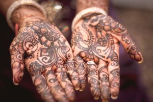 Henna-ed hands were a way one of our students celebrated a holiday from her culture.