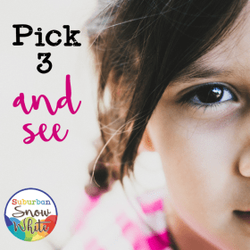 Best teacher practice: Pick 3 and see is a great getting to know you activity.