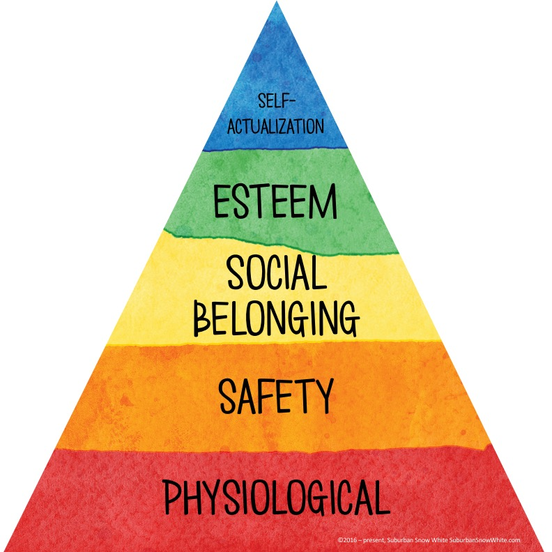 Maslow's Hierarchy of Needs  is about meeting kids' social emotional needs.