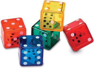 Dice make wonderful inexpensive gifts for studnets!