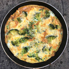 Fitter Food Broccoli, Pea and Parmesan Frittata