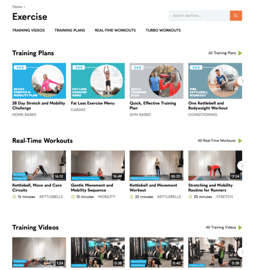 Fitter 365 Training Preferences