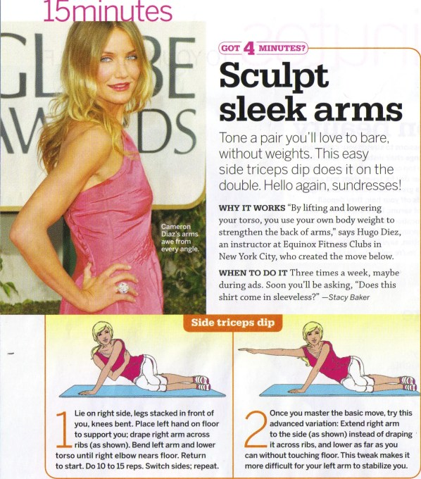 Flabby Arms Do This Exercise Anywhere Fit Tip Daily