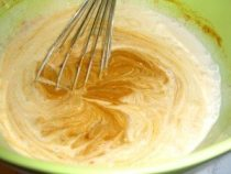 Pumpkin pudding mix with coconut milk