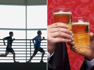 exercise and drinking