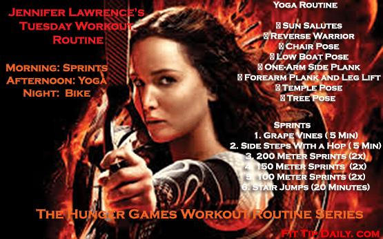 jennifer lawrence's workout routine