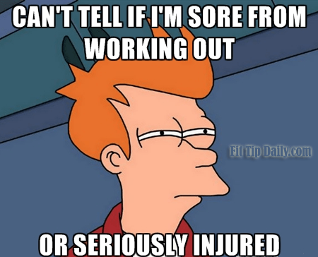 working out around an injury