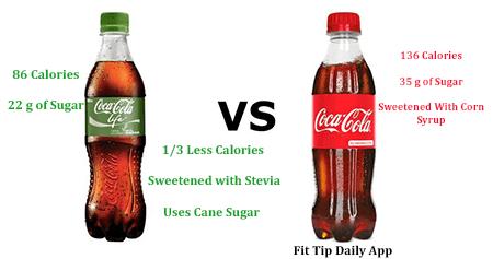 coca cola life verses diet coke