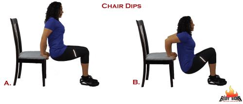 bent leg chair dips