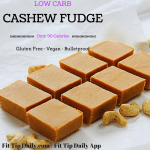 Low Carb Coconut Cashew Fudge – Vegan, Gluten Free, Dairy Free