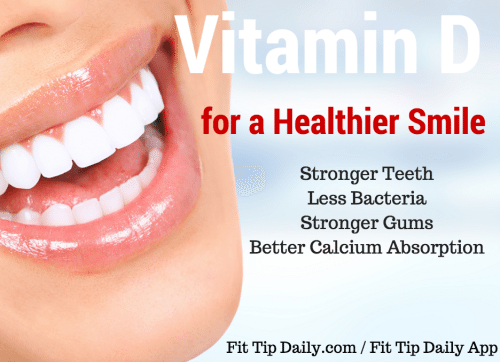 vitamin d for better tooth and gum health