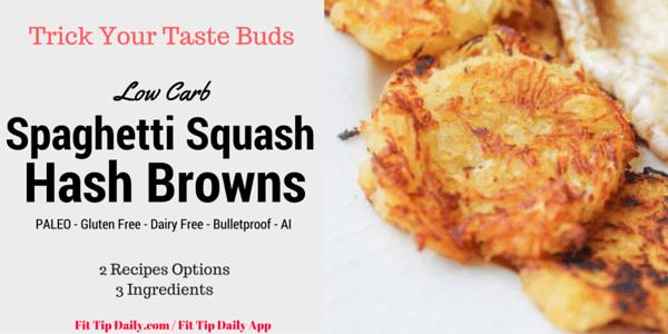 spaghetti squash hash brown.
