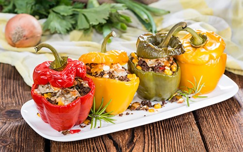 low carb meals - stuffed peppers