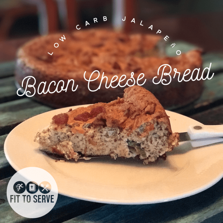 Keto jalapeno bacon cheese bread