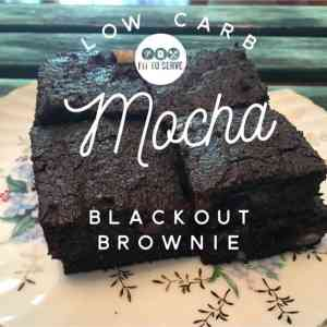 Low Carb Mocha Blackout Brownie