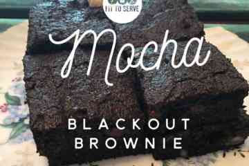 Low Carb Mocha Blackout Brownie