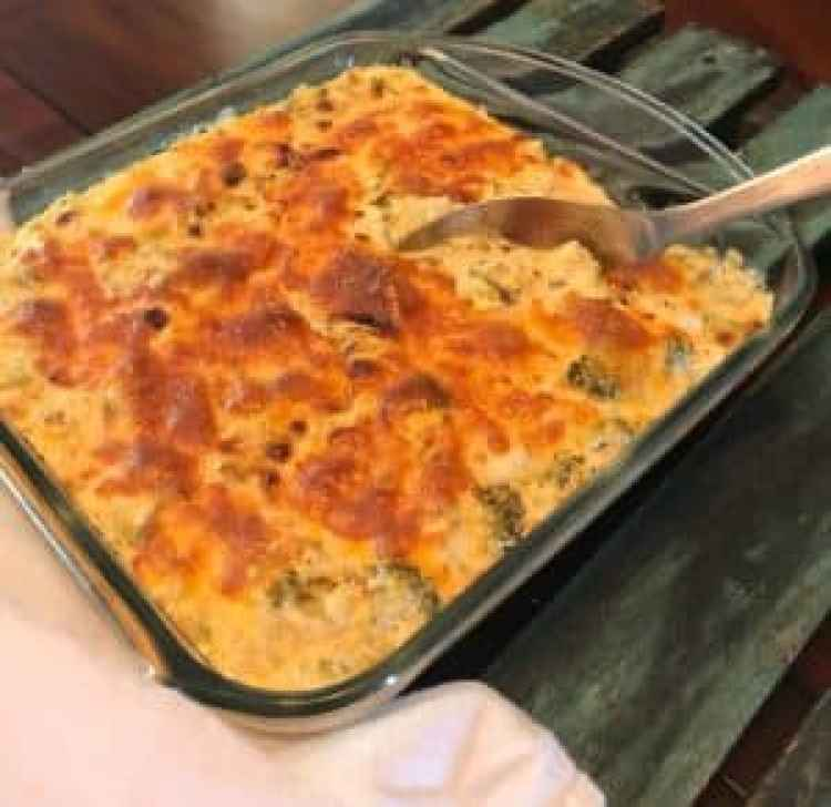 Low Carb Cauliflower Broccoli Macaroni and Cheese