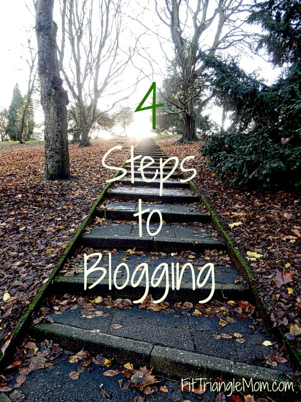 4-Steps, FitTriangleMom.com, 4 steps to blogging.