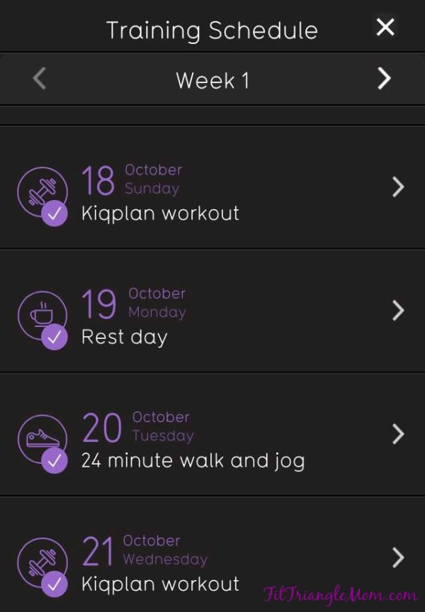 Kiqplan App 10k Run Ready, train for a 10k in 12 weeks