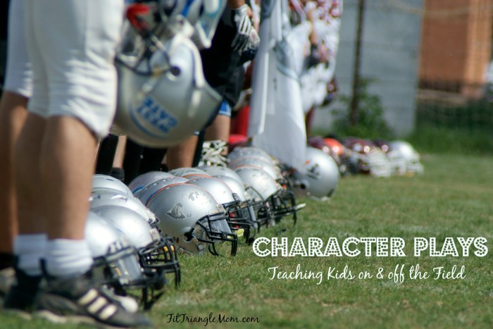 character plays- a game that teaches kids on & off the field