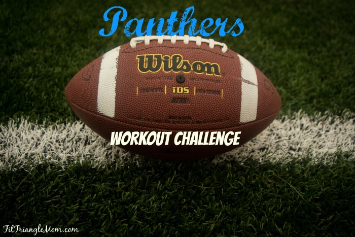 Carolina Panther inspired workout challenge. 3x a week. Run and strength train. Get your booty in gear.