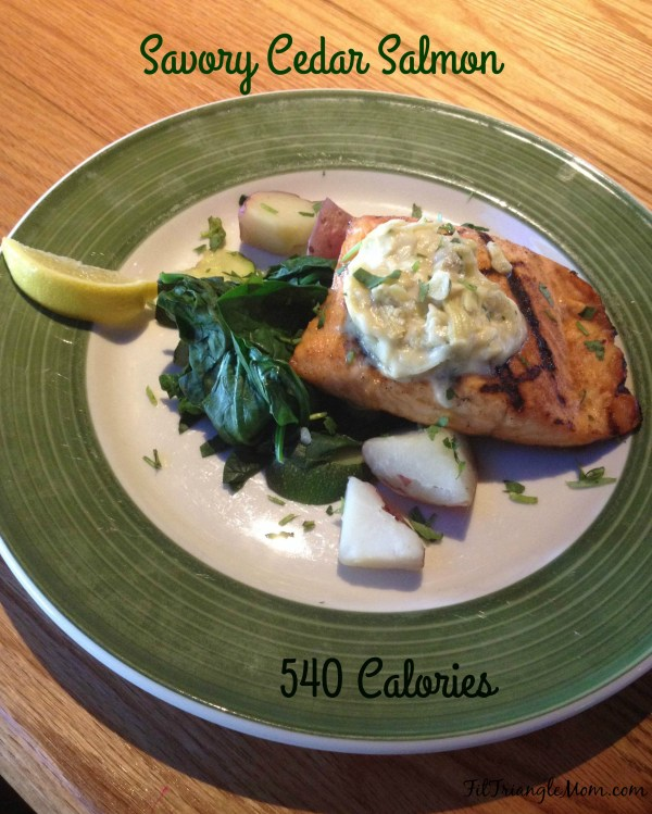 Savory Cedar Salmon is cooked to perfect at Applebee's and is only 540 calories.