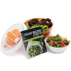 open spin salad spinner makes salads healthy and easy to prepare