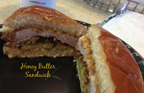 PDQ Honey Butter Sandwich new menu item to celebrate 5 years. Party on Oct 29-30.