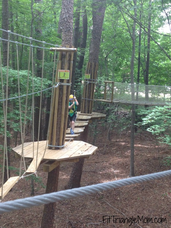 Go Ape Adventures have 3 courses based on difficulty in their junior course. It's a real confidence booster for kids.