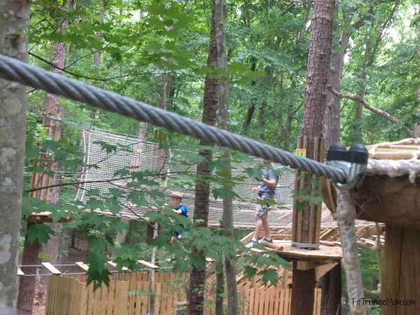 Go Ape Adventures offers a variety of rope courses based on difficuty.