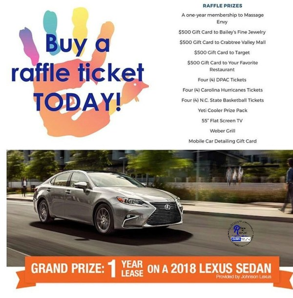 win a 1 year lease on a Lexus or a $500 gift card by helping feed 20,000 people in the Triangle.