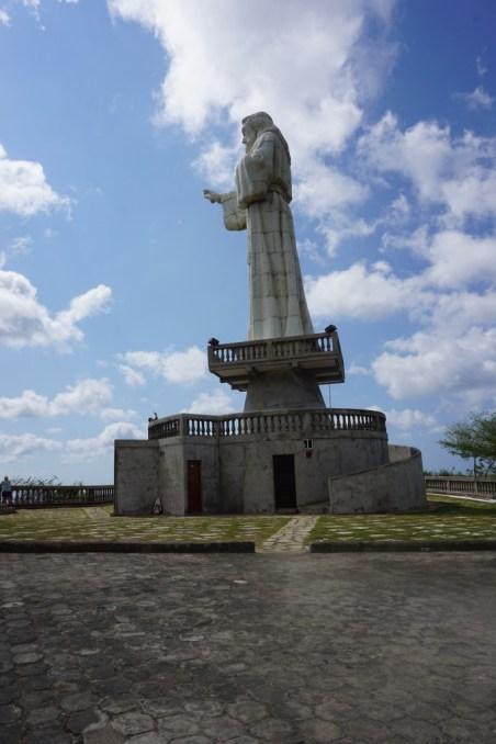 jesus statue san juan del sur side