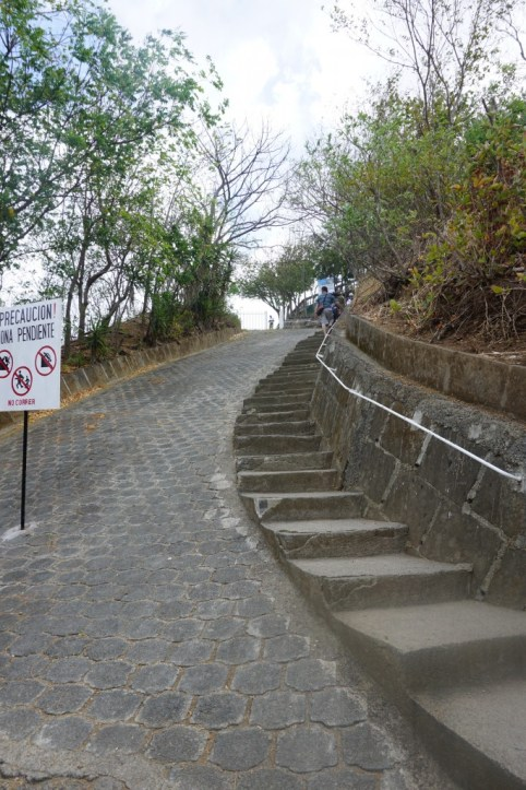 stairs nicaragua jesus statue