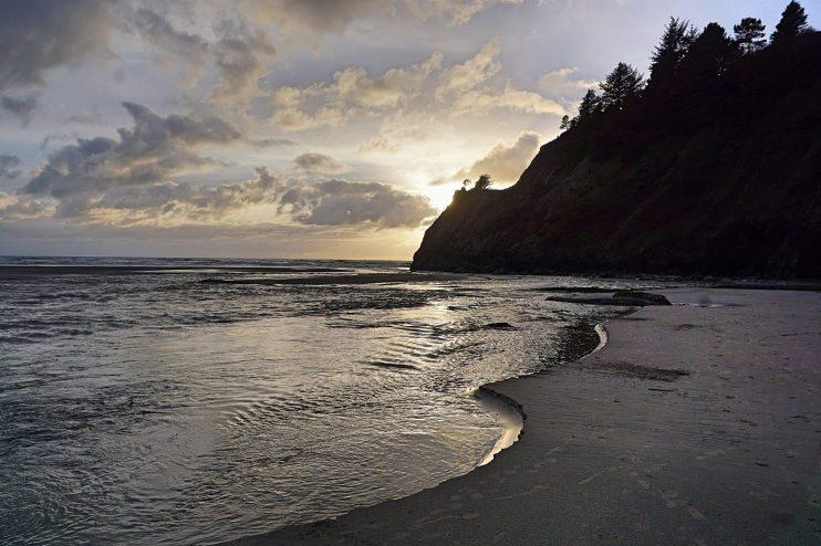 agate beach sunset oregon