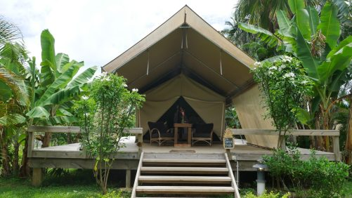 Guide to visiting rarotonga Where to stay ikurangi eco retreat glamping cook islands fittwotravel.com
