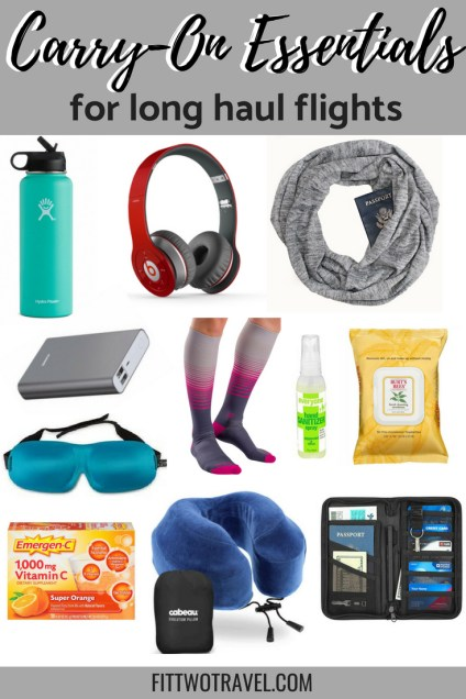 What to pack in a carry-on for a long flight. All the carry-on essentials for surviving a long flight fittwotravel.com